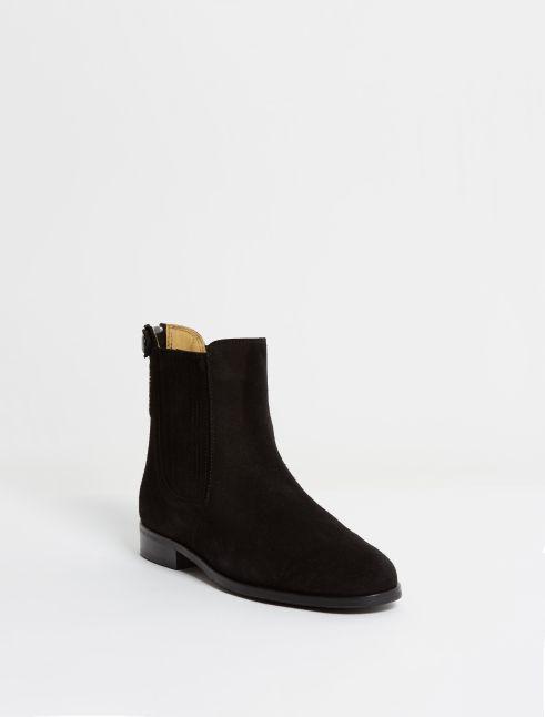 Kingsley Berlin Chelsea Boots sensory black front view