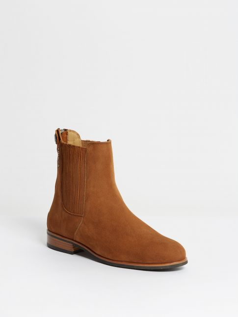 Kingsley Berlin Chelsea Boots nubuck chestnut front view