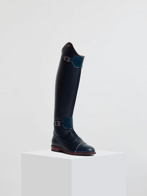 Kingsley London 02 Riding Boots nature blue, milady blue front view
