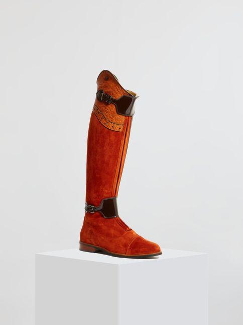 Kingsley London 02 Riding Boots sensory habaner, roma castanho front view