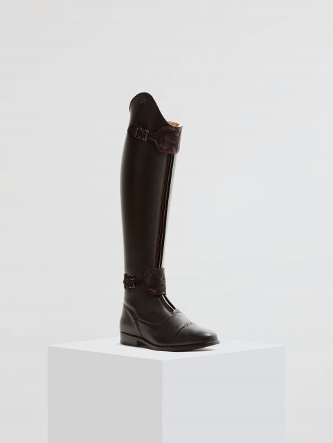 Kingsley London 02 Riding Boots montana black, luxuria bordeaux front view