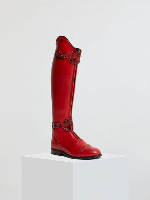 Kingsley London 02 Riding Boots nature red front view