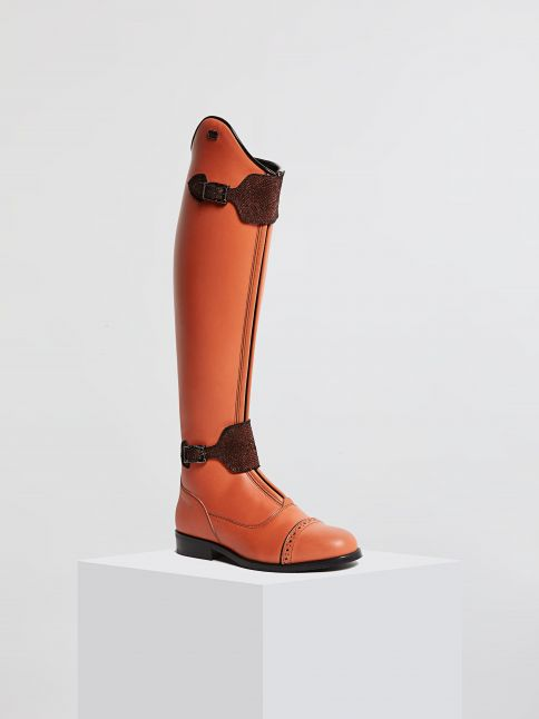 Kingsley London 02 Riding Boots nature salmao front view