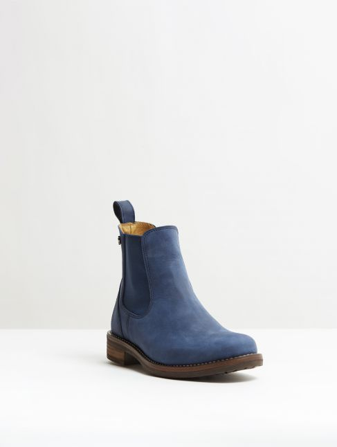 Kingsley Amsterdam Chelsea Boots gaucho navy, jeans blue front view