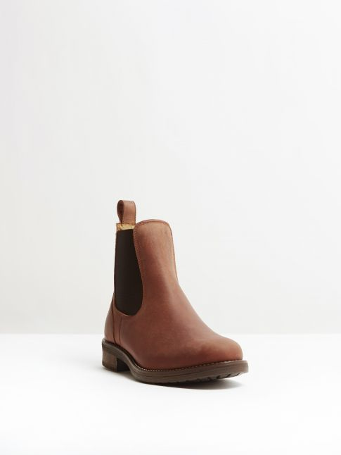 Kingsley Amsterdam Chelsea Boots gaucho chestnut, brown front view