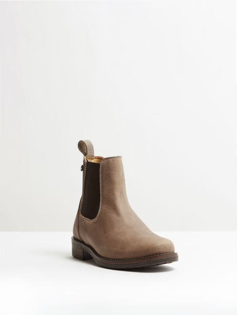 Kingsley Amsterdam Chelsea Boots gaucho grey, brown front view