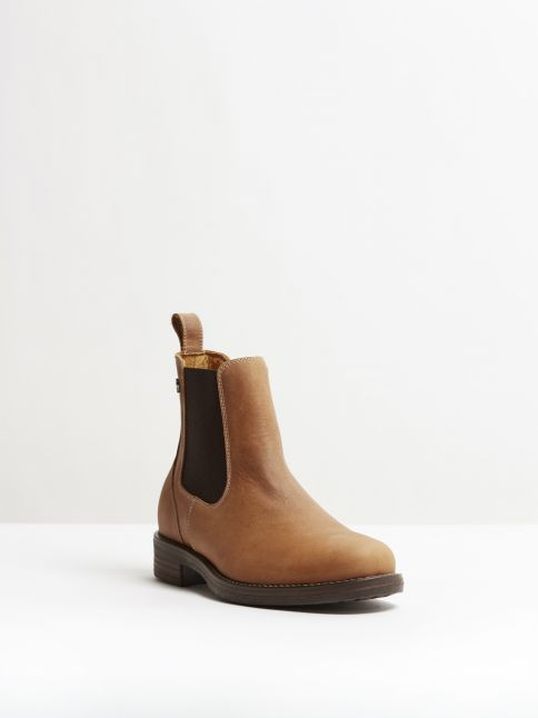 Kingsley Amsterdam Chelsea Boots gaucho brown, brown front view