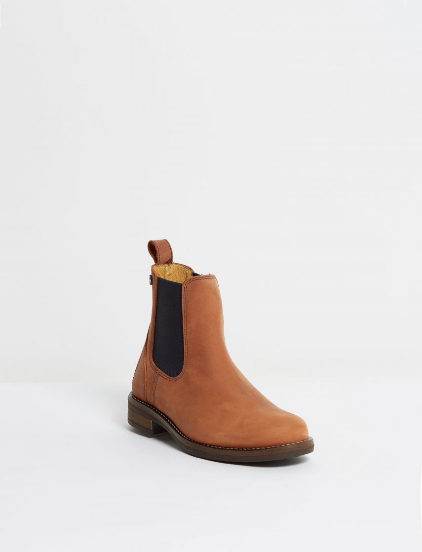 Kingsley Amsterdam Chelsea Boots gaucho chestnut, navy front view