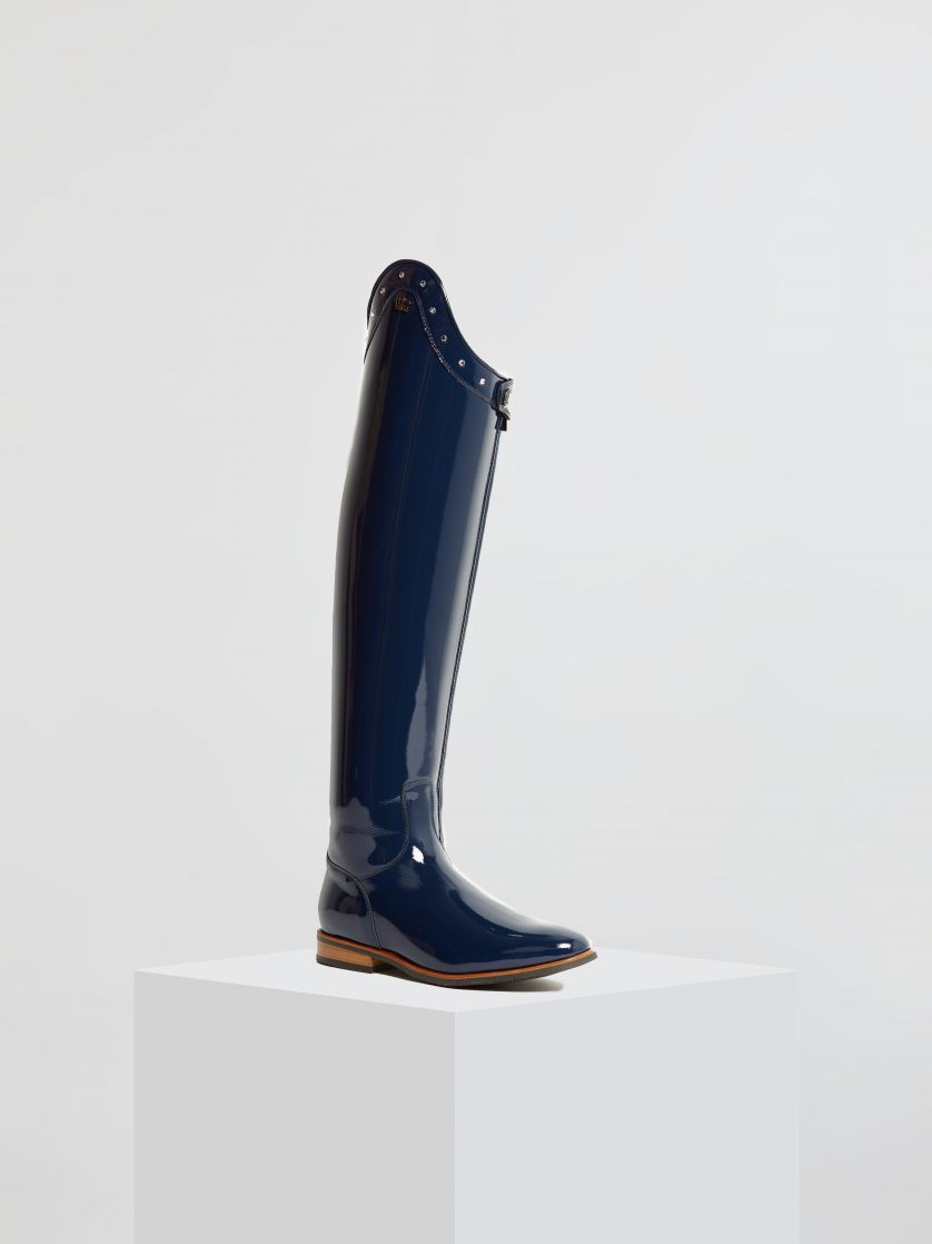 Kingsley Capri Riding Boots roma blue front view