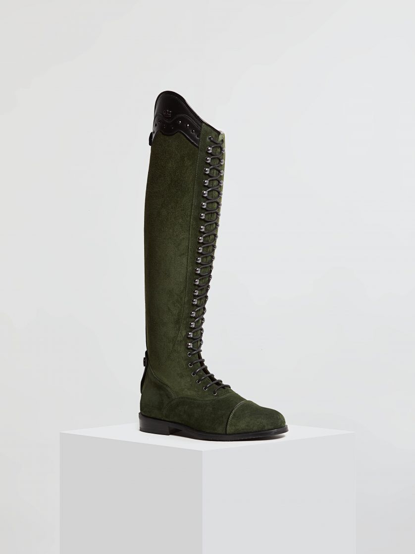 Kingsley Orlando 01 Riding Boots sensory militair, roma black front view