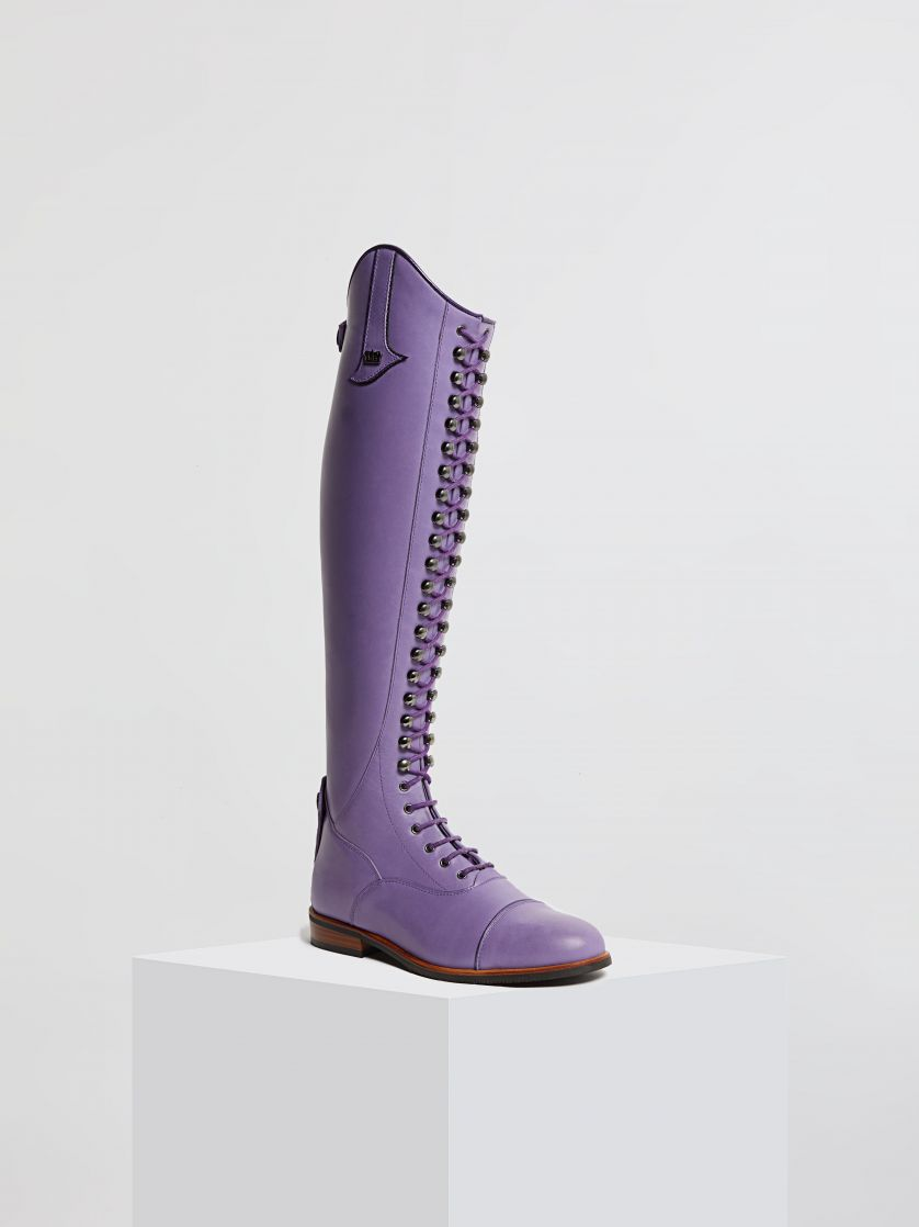 Kingsley Orlando 01 Riding Boots nature lilac front view
